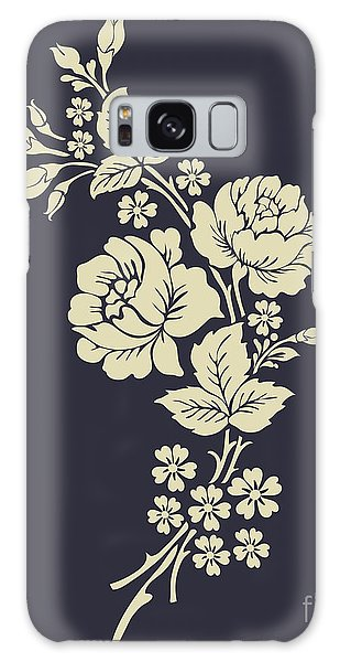Nature Galaxy Case - Beautiful Rose Flowers On The Dark by Flower Design Sketch Gallery