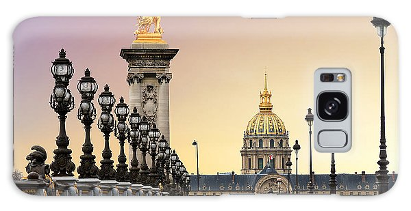 Travel Destinations Galaxy Case - Beautiful Sunrise At The Pont Alexandre by Dennis Van De Water