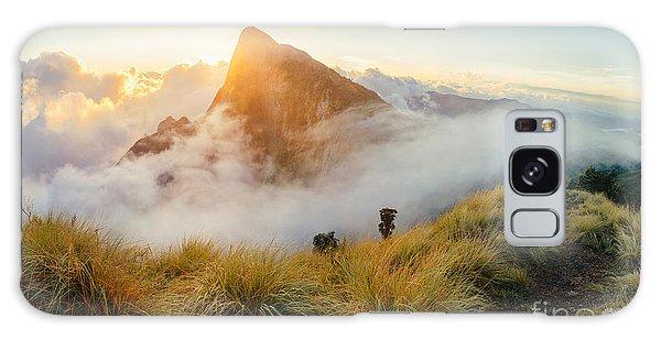 Scenery Galaxy Case - Beautiful Sunrise In The Mountains by Nina Lishchuk