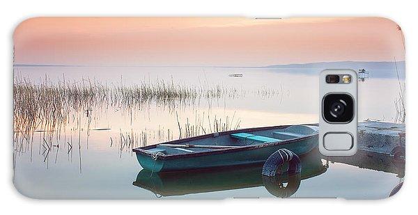 Docked Boats Galaxy Case - Beautiful Sunset On Lake Balaton With by Leicheroliver