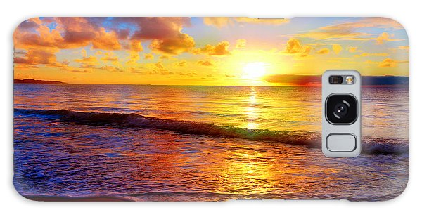 Scenery Galaxy Case - Beautiful Tropical Sunset On The Beach by Idiz