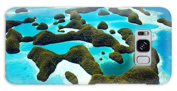 Travel Destinations Galaxy Case - Beautiful View Of 70 Islands In Palau by Blueorange Studio