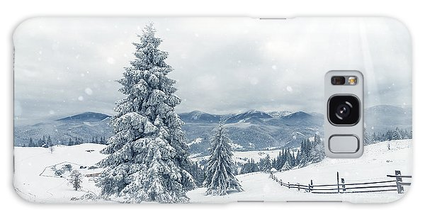 Highland Galaxy Case - Beautiful Winter Landscape With Snow by Ubc Stock