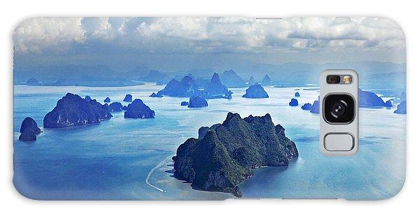 Plane Galaxy Case - Beauty Islands Like On Mars, Aerial by Saiko3p