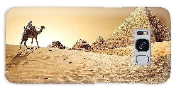Destination Galaxy Case - Bedouin On Camel Near Pyramids In Desert by Givaga