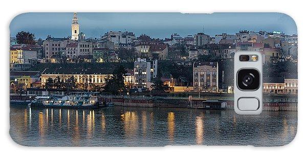 Belgrade Skyline And Sava River Galaxy Case