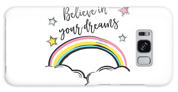 Believe In Your Dreams - Baby Room Nursery Art Poster Print Galaxy Case