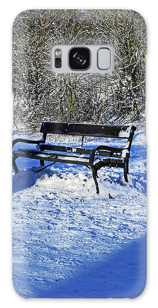 Bench In The Snow Galaxy Case