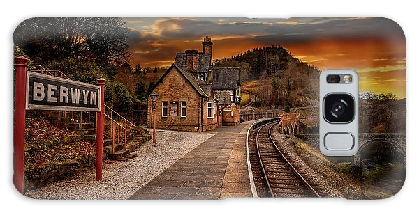 Galaxy Case - Berwyn Railway Station Sunset by Adrian Evans