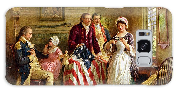 America Galaxy Case - Betsy Ross And General George Washington by War Is Hell Store