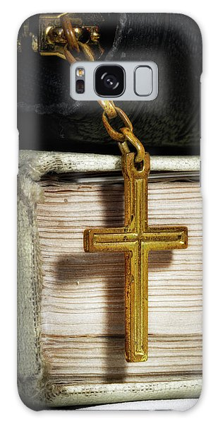 New Testament Galaxy Case - Bibles With Cross by Tom Mc Nemar