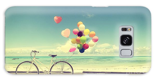 Form Galaxy Case - Bicycle Vintage With Heart Balloon On by Jakkapan