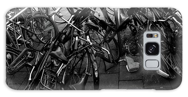 Galaxy Case featuring the photograph Bicycles  by Edward Lee