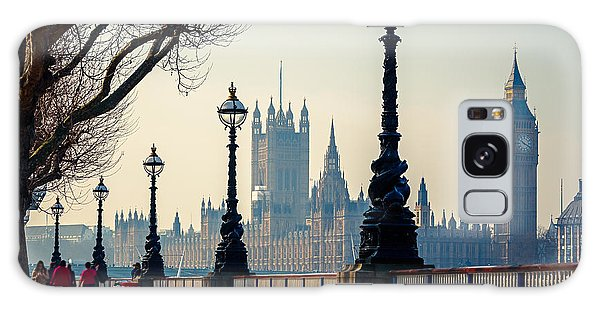 Houses Of Parliament Galaxy Case - Big Ben And Houses Of Parliament In by S.borisov