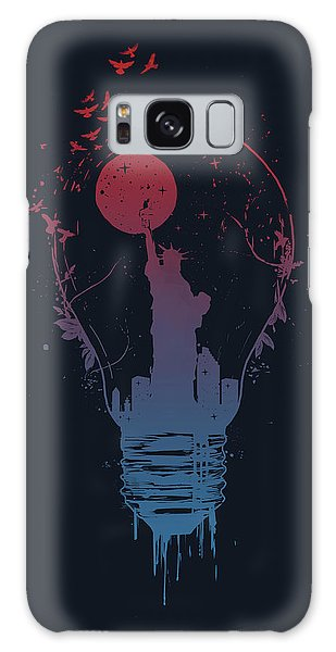 Usa Galaxy Case - Big City Lights by Balazs Solti