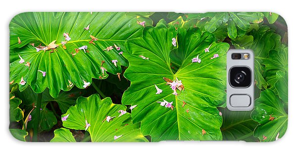 Big Green Leaves Galaxy Case
