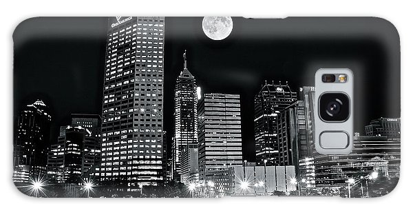 Indianapolis Galaxy Case - Big Moon Indianapolis 2019 by Frozen in Time Fine Art Photography