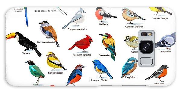 Cardinal Galaxy Case - Big Set Birds. Birds Flying, Animals by Alsu Gizzatullina