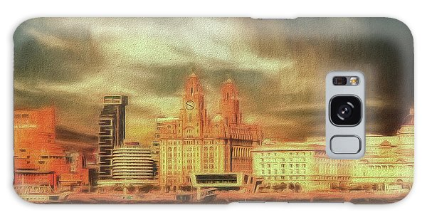 Galaxy Case featuring the photograph Big Sky Over The Mersey by Leigh Kemp
