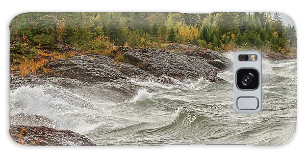 Big Waves In Autumn Galaxy Case