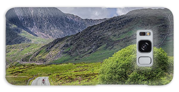 Galaxy Case - Biker In Snowdonia Wales by Adrian Evans