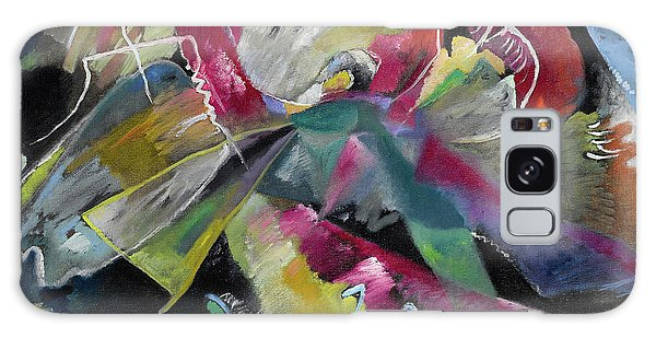 Russian Impressionism Galaxy Case - Bild Mit Weissen Linien - Painting With White Lines by Wassily Kandinsky