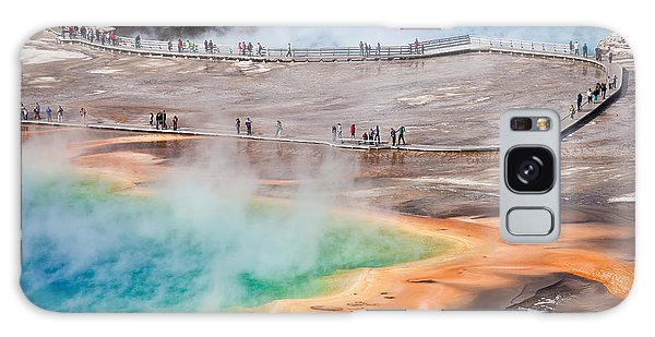 Geology Galaxy Case - Bird View Of Grand Prismatic Spring - by Berzina