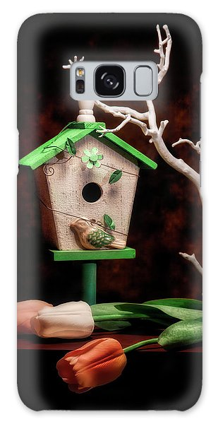 Limb Galaxy Case - Birdhouse With Tulips by Tom Mc Nemar
