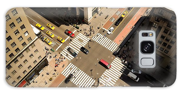 New York City Taxi Galaxy Case - Birds Eye View Of Manhattan, Looking by Heather Shimmin