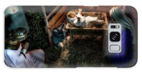Sacred Heart Galaxy Case - Birth Of Jesus Christ by Adrian Evans
