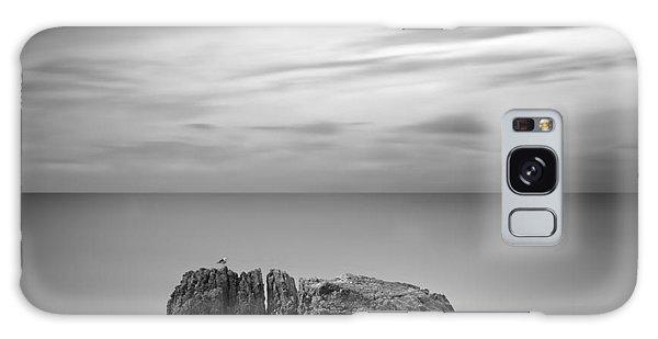 Long Exposure Galaxy Case - Black & White Rocky Seascape Scene With by Yury Bird