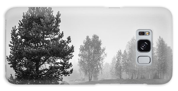 Scenery Galaxy Case - Black And White Landscape With Stones by Sinelev