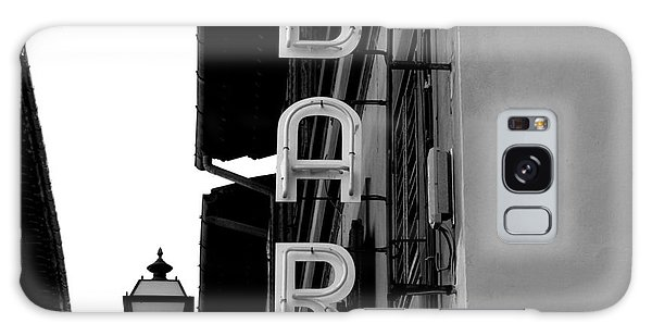 Street Cafe Galaxy Case - Black And White Neon Lights Spelling by Robin Nieuwenkamp