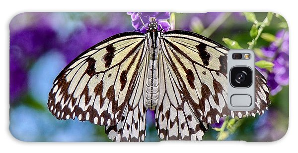 Black And White Paper Kite Butterfly Galaxy Case