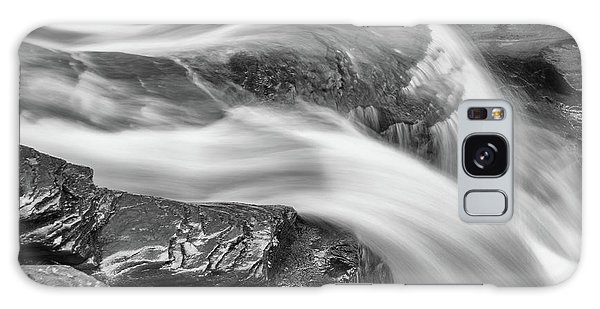 Black And White Rushing Water Galaxy Case