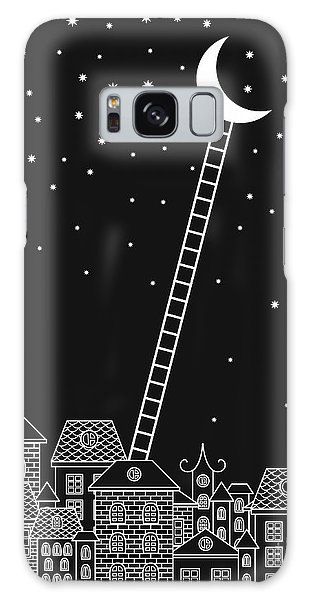Bricks Galaxy Case - Black And White To The Moon And Back by In dies magis