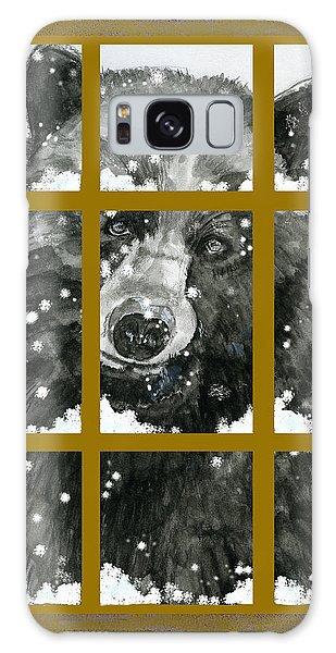 Black Bear, Outside My Window Galaxy Case