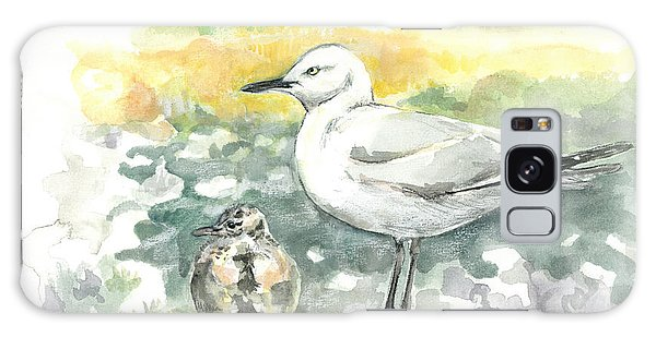 Black-billed Gull Family Galaxy Case