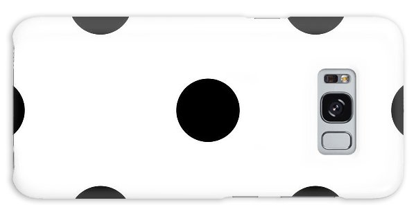 Black Dots On A White Background- Ddh610 Galaxy Case