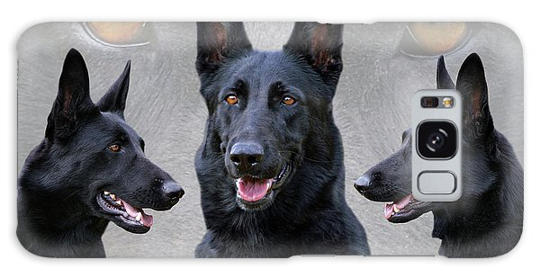 Black German Shepherd Dog Collage Galaxy Case
