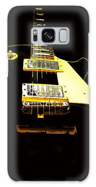 Black Guitar With Gold Accents Galaxy Case