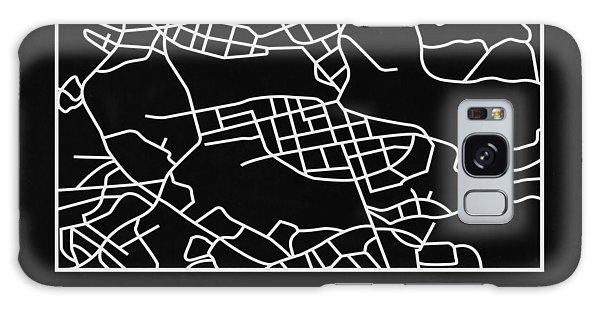 Sweden Galaxy Case - Black Map Of Stockholm by Naxart Studio