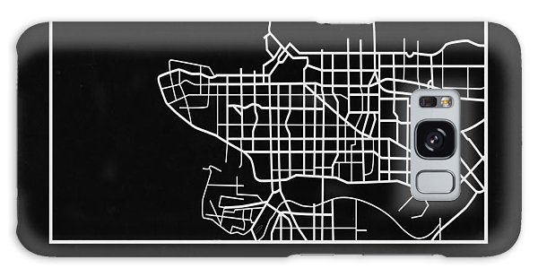 Vancouver City Galaxy Case - Black Map Of Vancouver by Naxart Studio