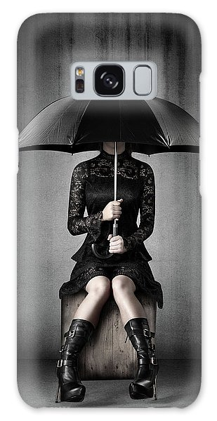 Heartache Galaxy Case - Black Rain by Johan Swanepoel