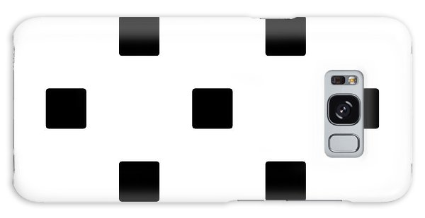 Black Squares On A White Background- Ddh574 Galaxy Case