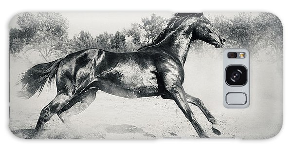Galaxy Case featuring the photograph Black Stallion Horse by Dimitar Hristov