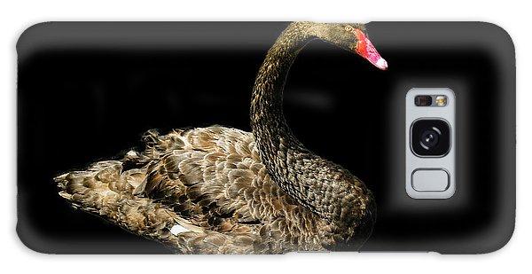 Black Swan On Black  Galaxy Case