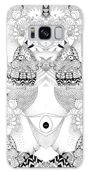 Organic Abstraction Galaxy Case - Blessed Be 3 by Helena Tiainen