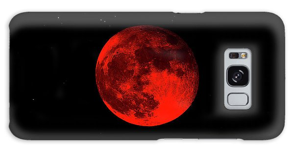 Blood Red Wolf Supermoon Eclipse 873a Galaxy Case