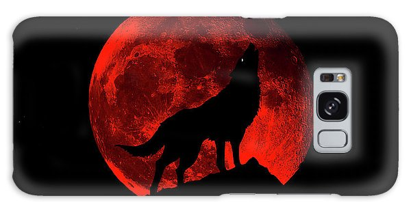 Blood Red Wolf Supermoon Eclipse 873l Galaxy Case